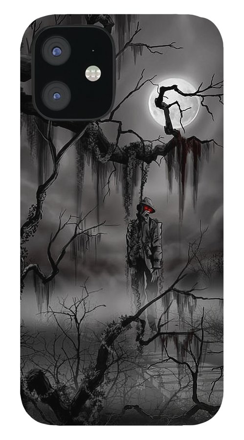 Nightmare iPhone 12 Case featuring the painting The Hangman by James Christopher Hill