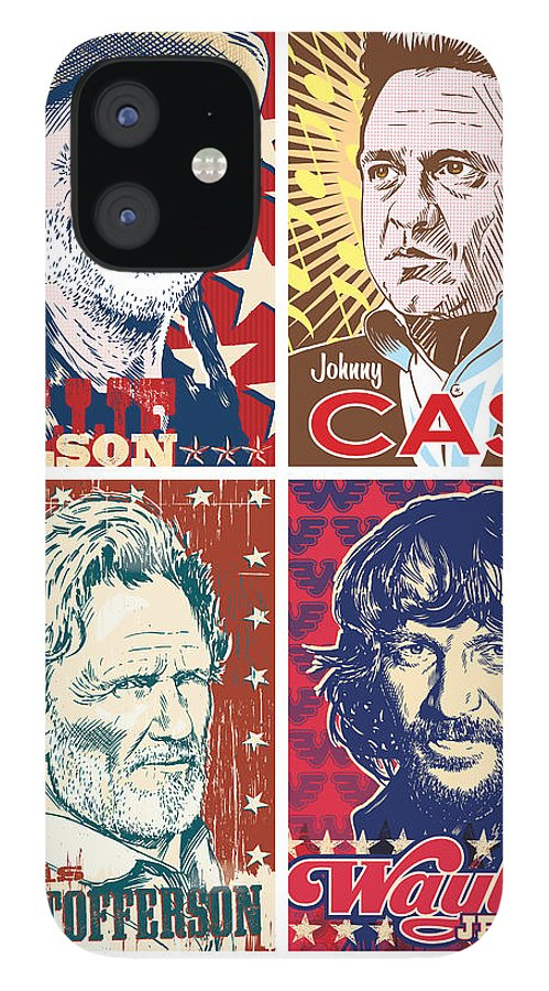 Outlaw IPhone 12 Case featuring the digital art The Highwaymen by Jim Zahniser