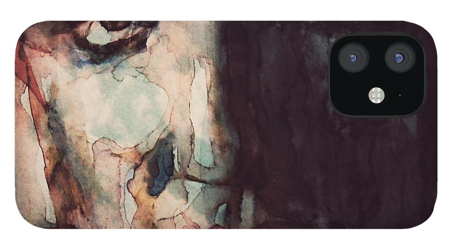 Elvis IPhone 12 Case featuring the painting The King by Paul Lovering