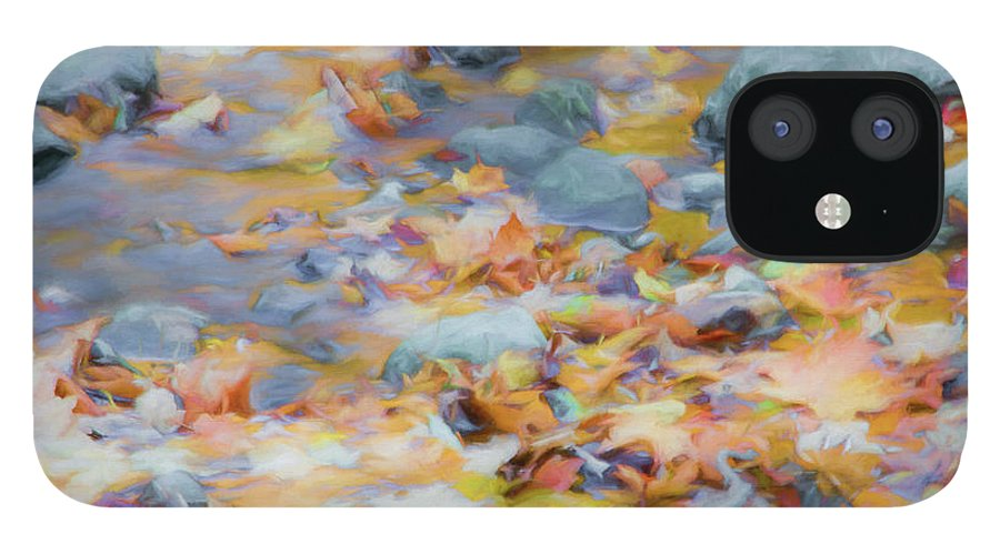 Abstracts iPhone 12 Case featuring the photograph The Lightness of Autumn by Marilyn Cornwell