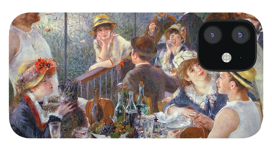 The IPhone 12 Case featuring the painting The Luncheon of the Boating Party by Pierre Auguste Renoir