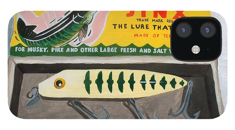 Fishing IPhone 12 Case featuring the painting The Lure That by Racquel Morgan