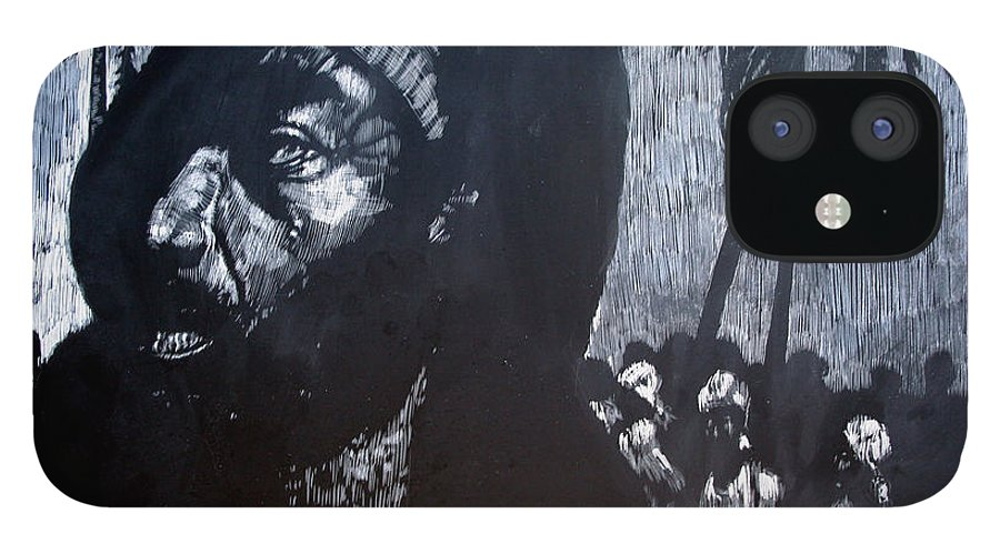 Meet IPhone 12 Case featuring the mixed media The Meeting by Chester Elmore