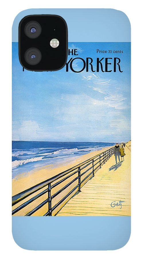 The New Yorker Cover - April 1st, 1967 IPhone 12 Case