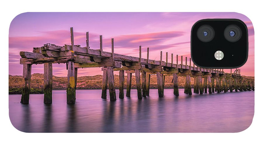Old Bridge IPhone 12 Case featuring the photograph The Old Bridge at Sunset by Roy McPeak