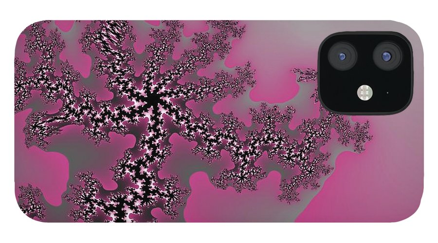 Fractals Tree Nature Oriental Art IPhone 12 Case featuring the digital art The oriental tree by Veronica Jackson