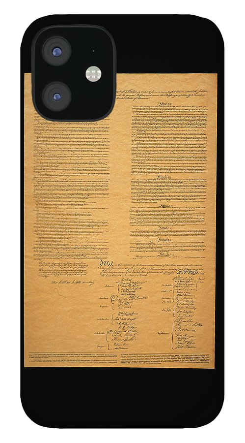 Photography IPhone 12 Case featuring the photograph The Original United States Constitution by Panoramic Images