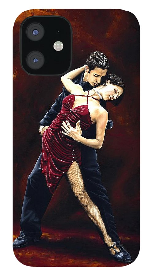 Tango IPhone 12 Case featuring the painting The Passion of Tango by Richard Young