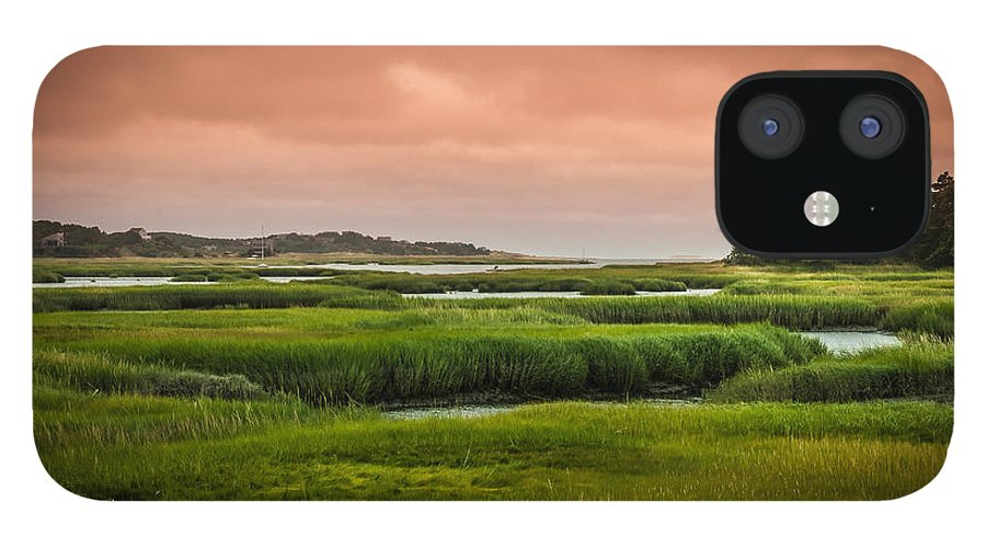 Duck Creek Marsh IPhone 12 Case featuring the photograph The Salt Marsh by Heather Hubbard