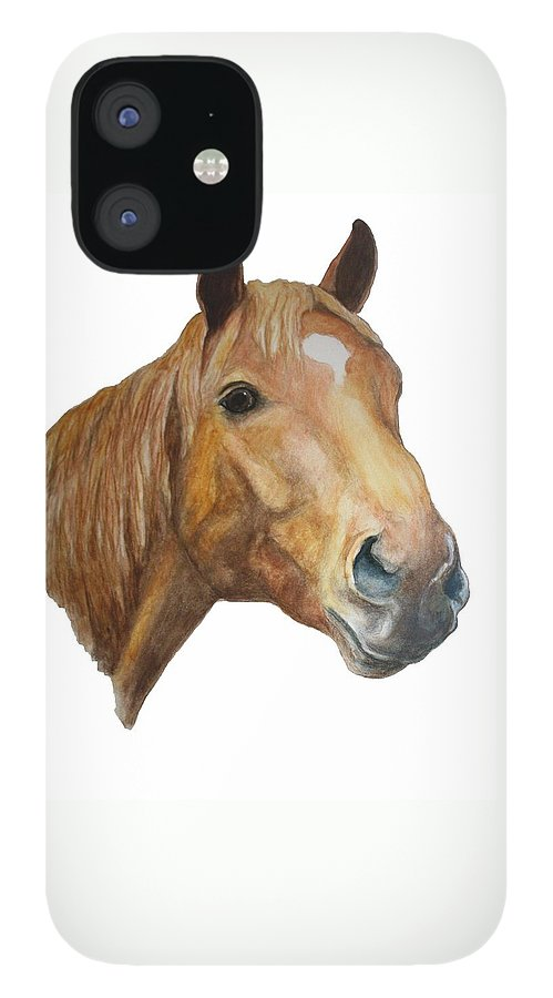 Chestnut IPhone 12 Case featuring the painting The Sorrell by Debra Sandstrom