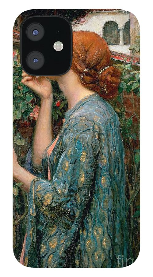 The IPhone 12 Case featuring the painting The Soul of the Rose by John William Waterhouse