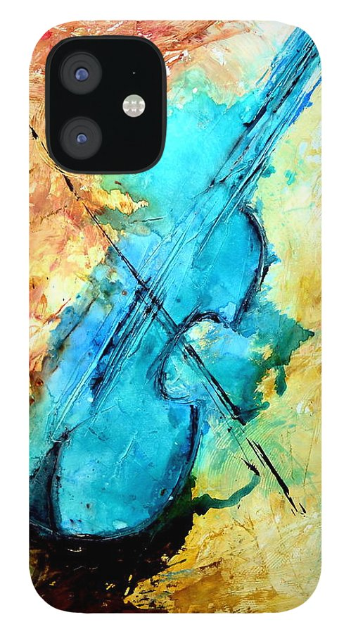 Music IPhone 12 Case featuring the mixed media The Sound by Ivan Guaderrama