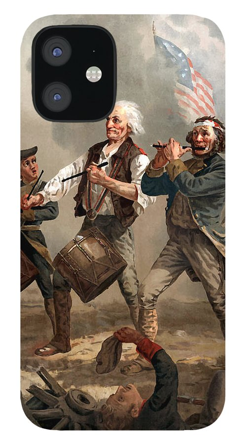 Yankee Doodle iPhone 12 Case featuring the painting The Spirit of '76 by War Is Hell Store