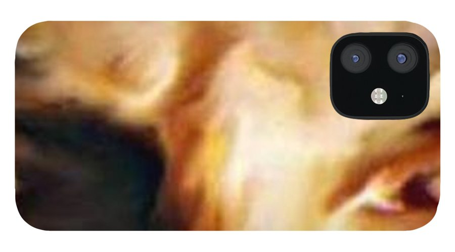 Eyes IPhone 12 Case featuring the painting The Stare by Crystal Webb