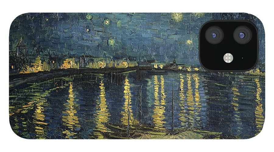 The IPhone 12 Case featuring the painting The Starry Night by Vincent Van Gogh