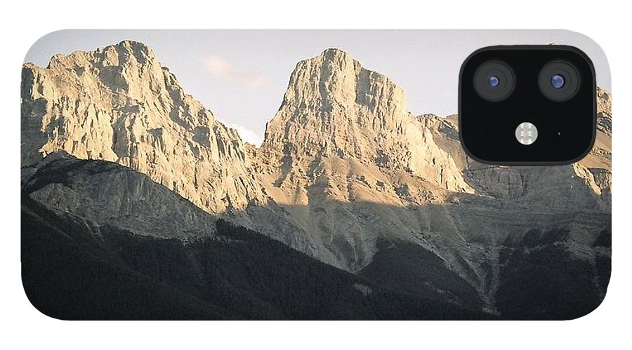 Rocky Mountains IPhone 12 Case featuring the photograph The Three Sisters of the Rockies by Tiffany Vest
