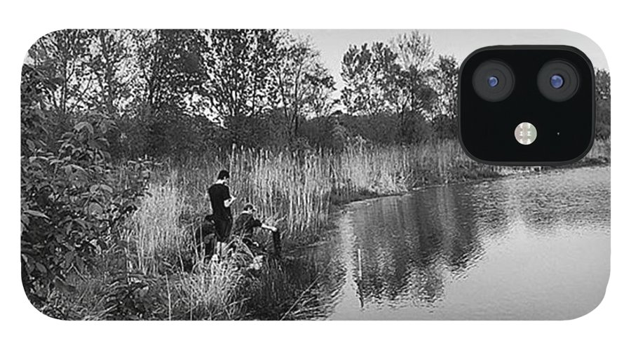 Water IPhone 12 Case featuring the photograph Moving the Water by Frank J Casella