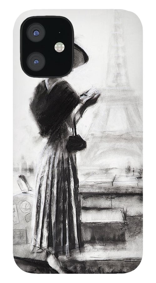 Woman IPhone 12 Case featuring the painting The Traveler by Steve Henderson