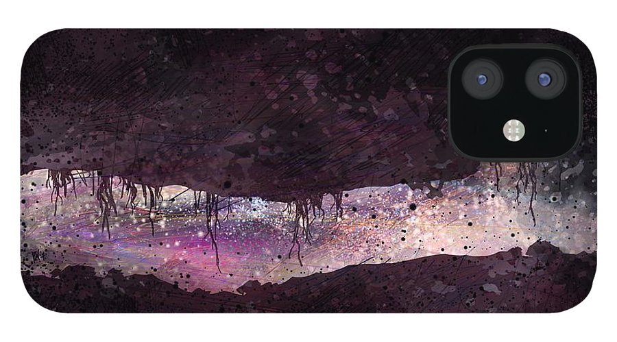 Tunnel IPhone 12 Case featuring the digital art The Tunnel by William Russell Nowicki