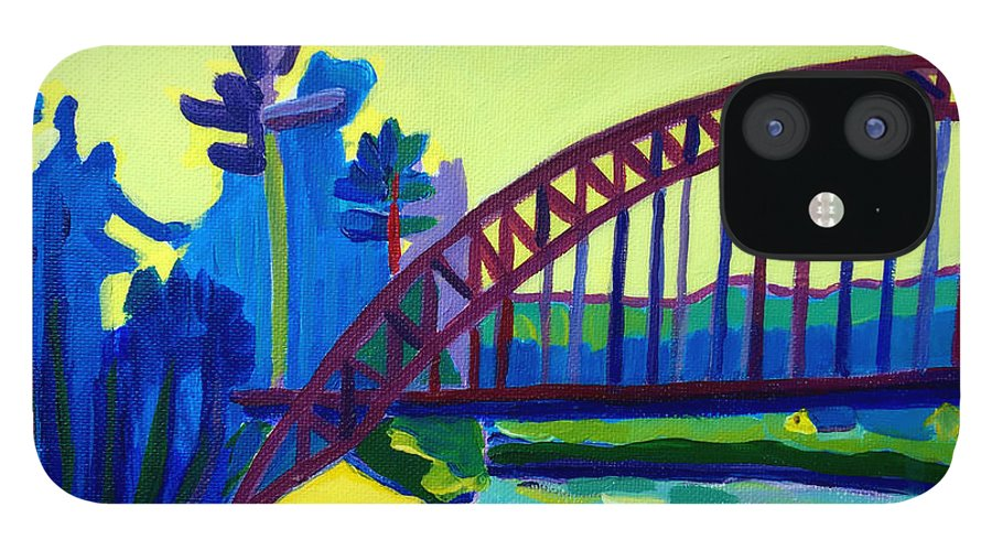 Water IPhone 12 Case featuring the painting The Tyngsborough Bridge by Debra Bretton Robinson