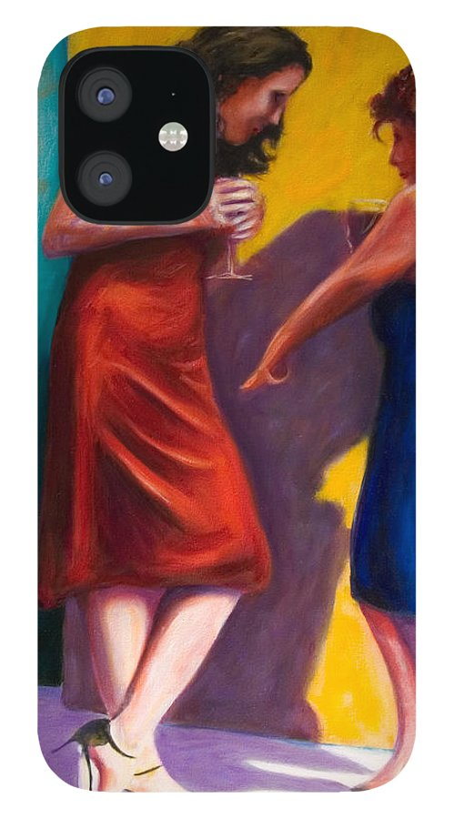 Figurative IPhone 12 Case featuring the painting There by Shannon Grissom