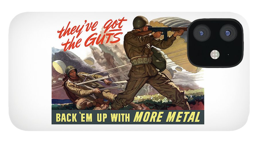Airborne IPhone 12 Case featuring the painting They've Got The Guts by War Is Hell Store