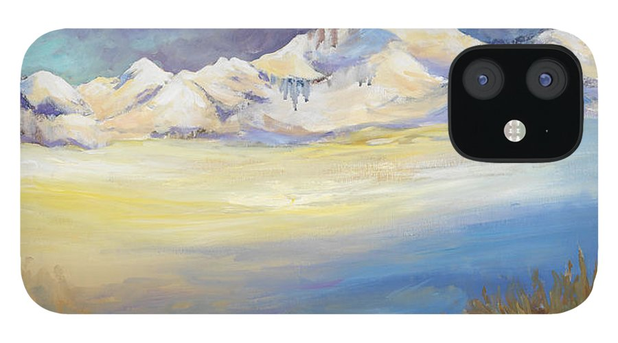 Tibet IPhone 12 Case featuring the painting Tibet by Caroline Patrick