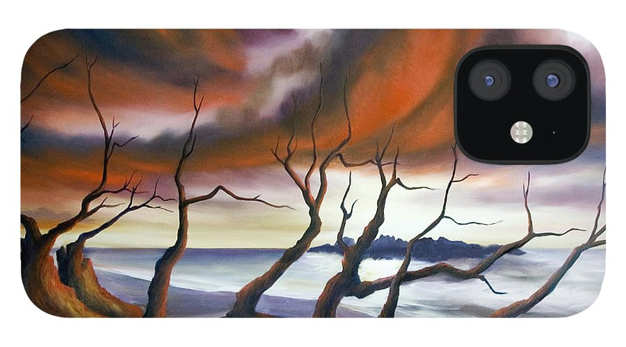 Marsh IPhone 12 Case featuring the painting Tideland by James Christopher Hill
