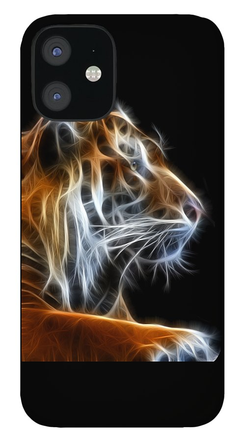 Tiger IPhone 12 Case featuring the photograph Tiger Fractal 2 by Shane Bechler