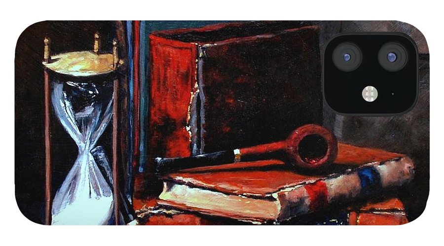 Still Life Painting IPhone 12 Case featuring the painting Time and Old Friends by Jim Gola