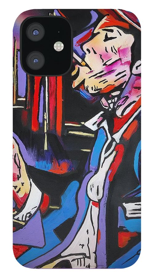 Tom Waits IPhone 12 Case featuring the painting Tom Traubert's Blues by Eric Dee