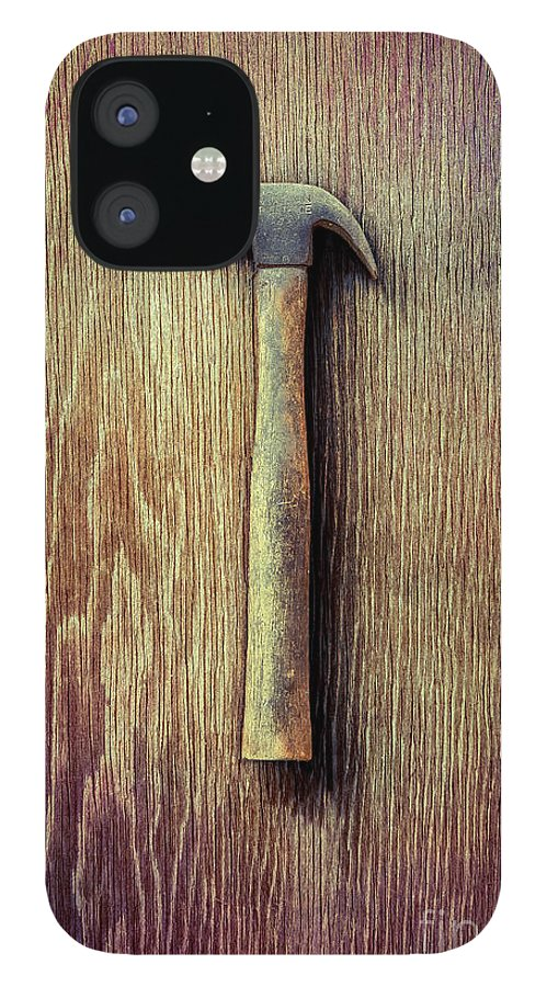Ennis IPhone 12 Case featuring the photograph Tools On Wood 53 by YoPedro