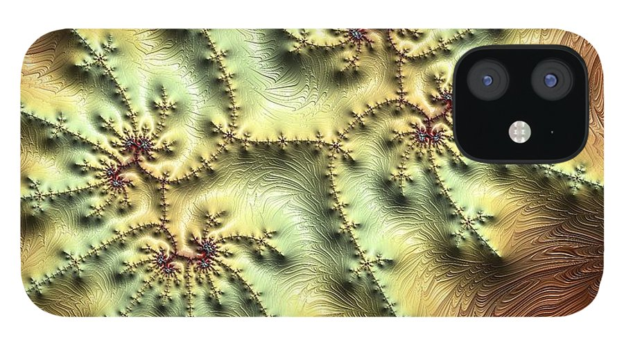 Fractal IPhone 12 Case featuring the digital art Topo Fractal by Ron Bissett