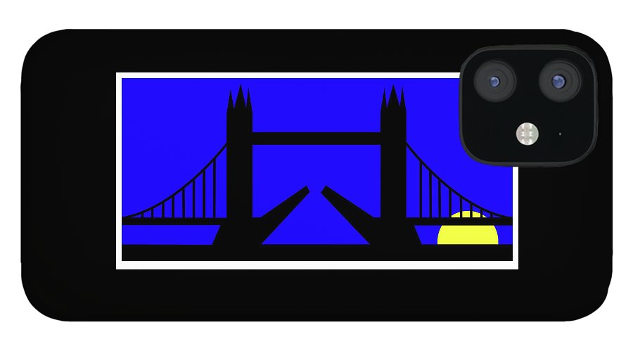 Tower Bridge In The Morning iPhone 12 Case featuring the digital art Tower Bridge in the morning by Asbjorn Lonvig
