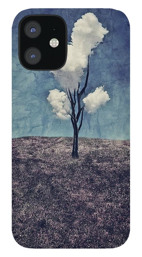 Tree IPhone 12 Case featuring the digital art Tree Clouds 01d2 by Aimelle