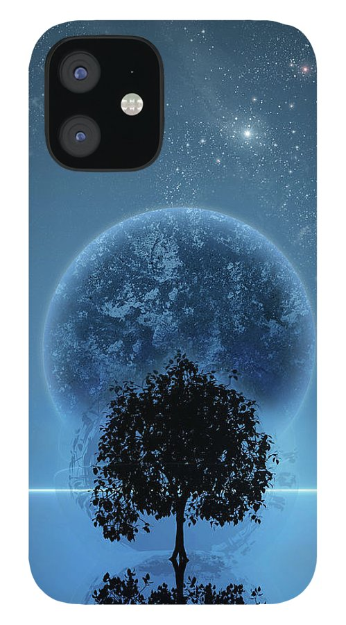 Graphic Design IPhone 12 Case featuring the digital art Tree Of Life by Andreas Leonidou