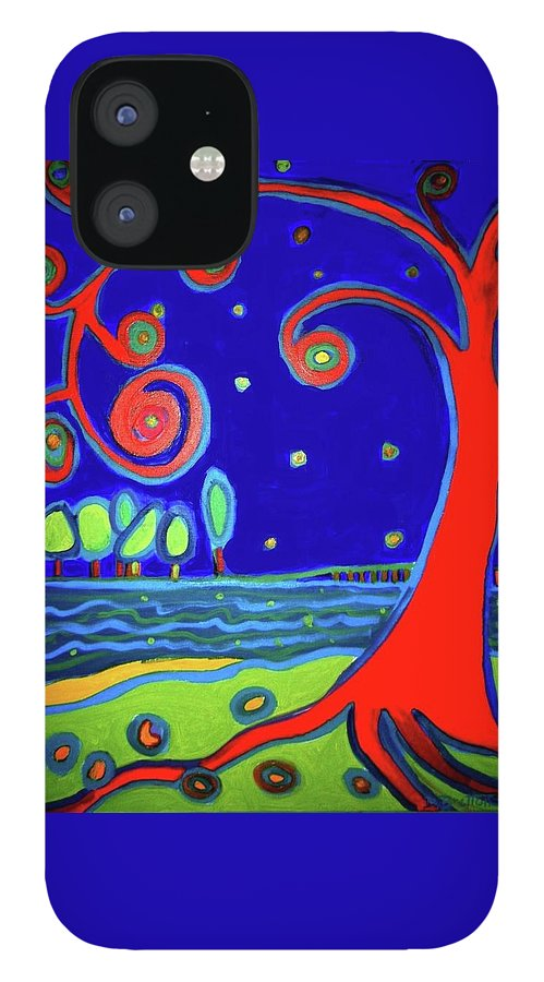 Manchester-by-the-sea IPhone 12 Case featuring the painting Tree of Life Manchester-by-the-sea by Debra Bretton Robinson
