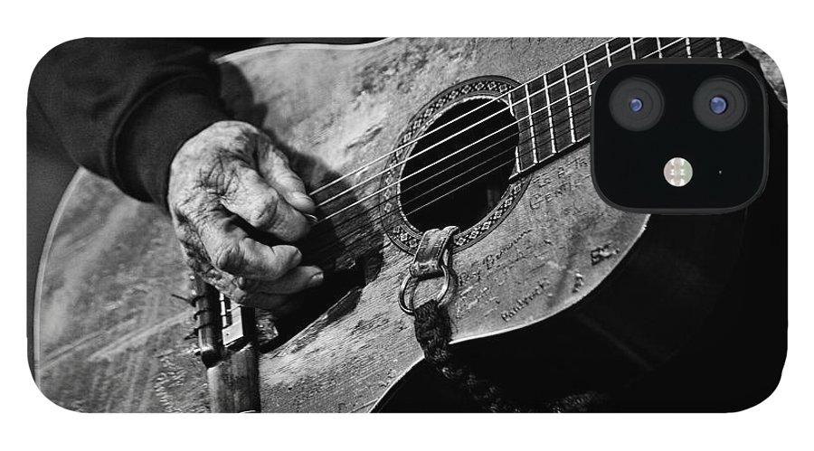 Willie Nelson And His Guitar Trigger. IPhone 12 Case featuring the photograph Trigger and Willie by Ty Helbach