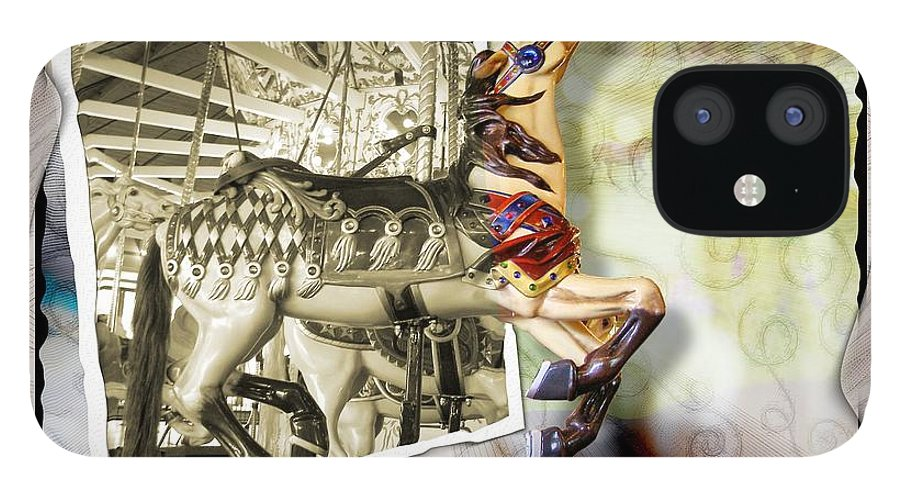 Carousel Horses IPhone 12 Case featuring the photograph Triumph by Susan Kinney