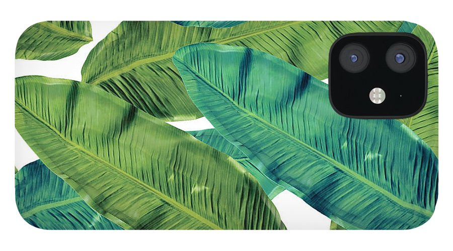 Summer IPhone 12 Case featuring the digital art Tropical Colors 2 by Mark Ashkenazi