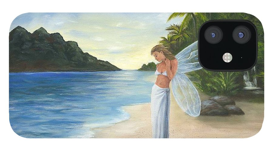 Fairy IPhone 12 Case featuring the painting Tropical Fairy by Anne Kushnick