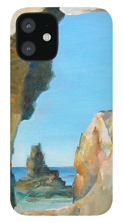 Paysage IPhone 12 Case featuring the painting Trouee 1 by Muriel Dolemieux