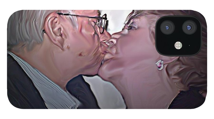 People IPhone 12 Case featuring the painting True Love by Crystal Webb