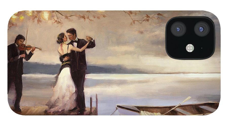 Romantic IPhone 12 Case featuring the painting Twilight Romance by Steve Henderson