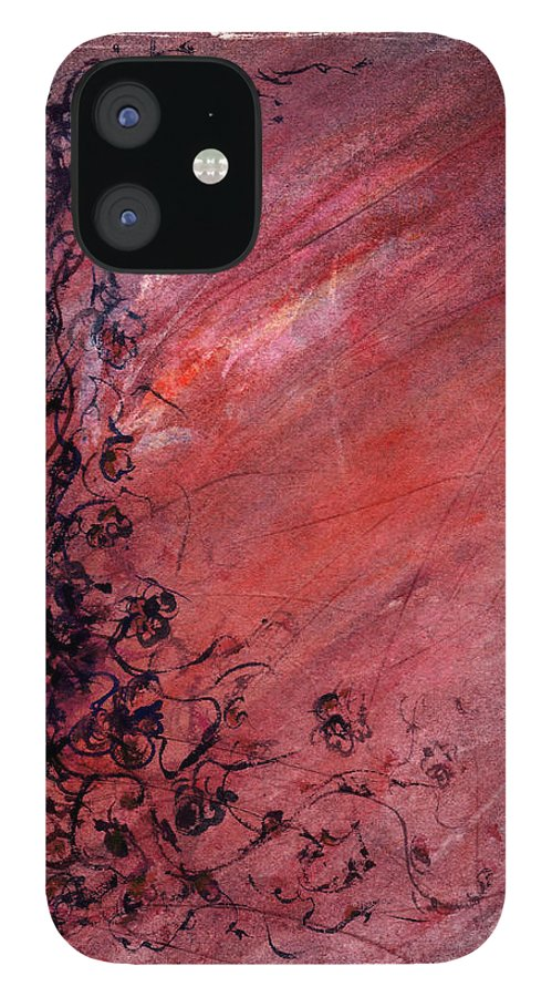 Floral IPhone 12 Case featuring the painting Twilight Rose by William Russell Nowicki