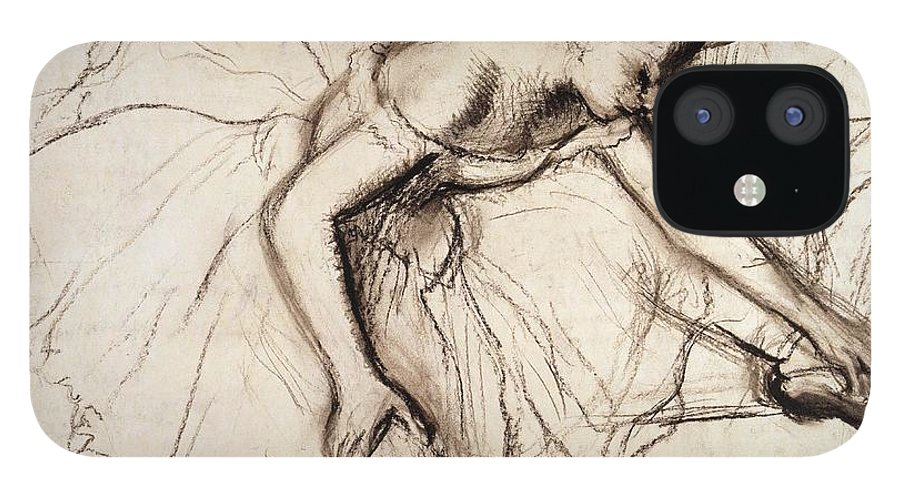 Degas IPhone 12 Case featuring the drawing Two Dancers Resting by Edgar Degas
