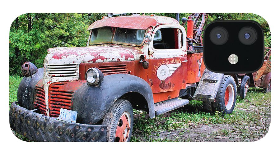 Old Truck IPhone 12 Case featuring the photograph Two for One by Kristin Elmquist