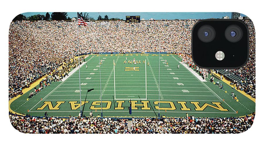 Photography IPhone 12 Case featuring the photograph University Of Michigan Stadium, Ann by Panoramic Images