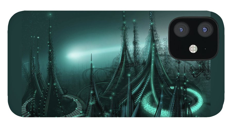 Cityscape IPhone 12 Case featuring the digital art Utopia by James Christopher Hill