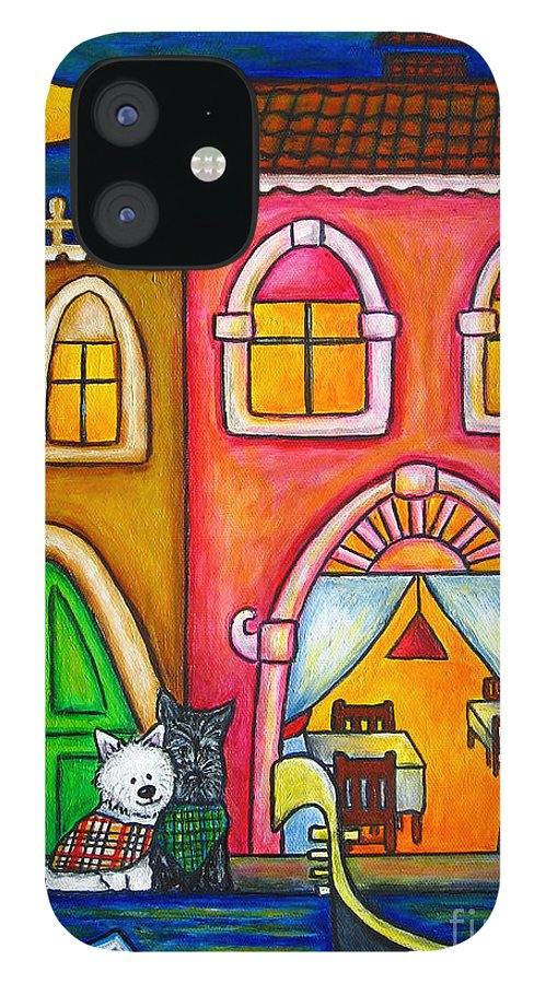 Venice IPhone 12 Case featuring the painting Venice Valentine by Lisa Lorenz